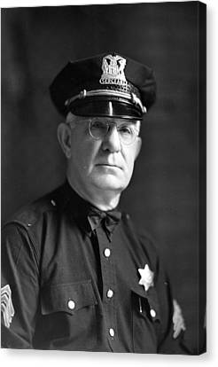 Chicago Police Sargent Canvas Print by Retro Images Archive