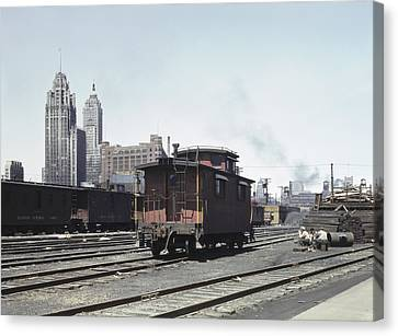 Chicago Railroad, 1943 Canvas Print