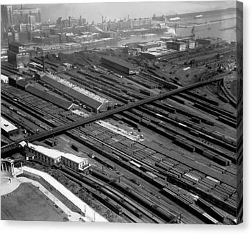 Chicago Railroad Yards Canvas Print