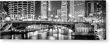 Chicago River Canvas Print - Chicago River Dearborn Street Bridge Panorama Photo by Paul Velgos