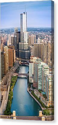 Chicago River Sunrise Canvas Print by Steve Gadomski