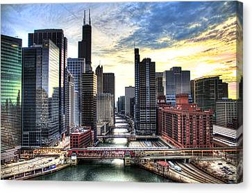 Chicago River Canvas Print