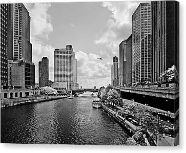 Chicago River - The River That Flows Backwards Canvas Print by Christine Till