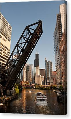 Chicago River Traffic Canvas Print by Steve Gadomski