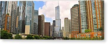 Chicago River View Panorama Canvas Print