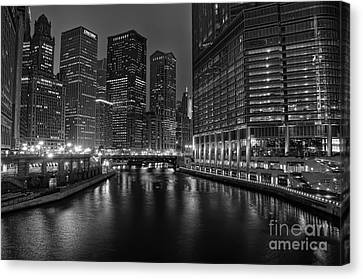 Chicago Riverwalk Canvas Print by Eddie Yerkish