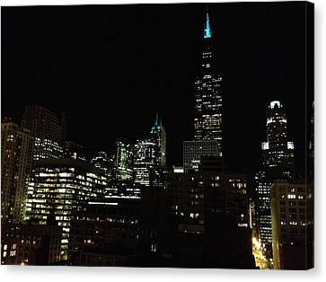 Canvas Print featuring the photograph Chicago Skyline by Alan Lakin