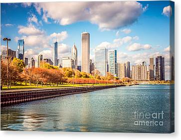 Chicago Skyline And Lake Michigan Photo Canvas Print