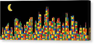 Chicago Skyline Canvas Print by Andrew Fare