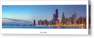 Chicago Skyline At Dawn Canvas Print