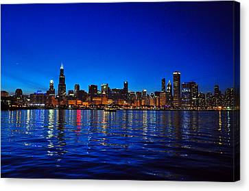 Chicago Skyline At Dusk Canvas Print by Matthew Chapman