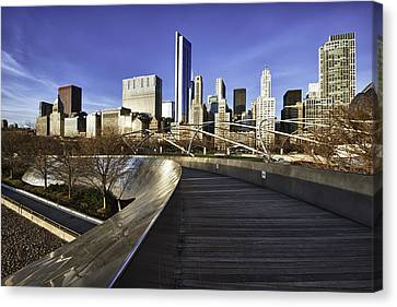 Chicago Skyline At Sunrise Canvas Print by Sebastian Musial