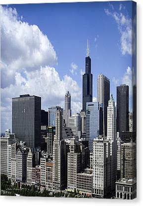 Chicago Skyline From Randolph Canvas Print