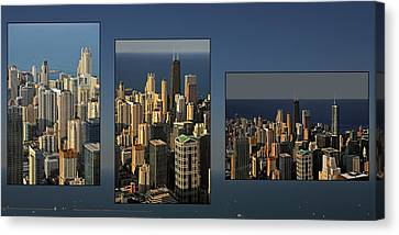 Chicago Skyline From Willis Tower Canvas Print by Christine Till
