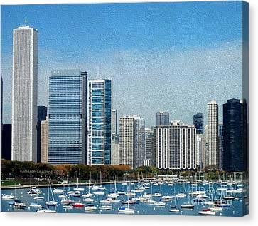 Chicago Skyline Canvas Print by Kathie Chicoine