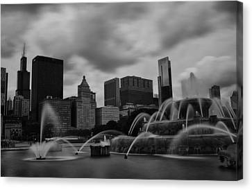 Chicago City Skyline Canvas Print by Miguel Winterpacht