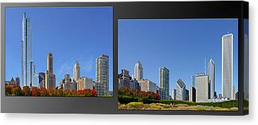 Grant Park Canvas Print - Chicago Skyline Of Superstructures by Christine Till