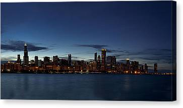 Chicago Skyline Panorama Canvas Print by Andrew Soundarajan