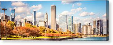 Chicago Skyline Panorama Photo Canvas Print