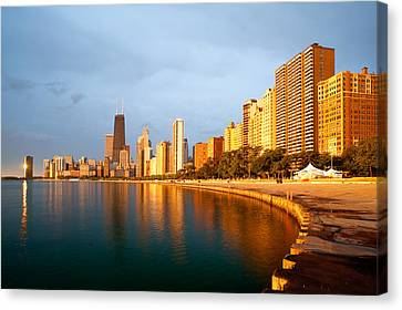 Canvas Print featuring the photograph Chicago Skyline by Sebastian Musial