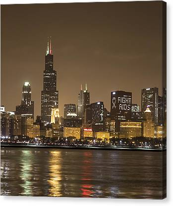 Chicago Skyline - World Aids Day 12/1/12 Canvas Print