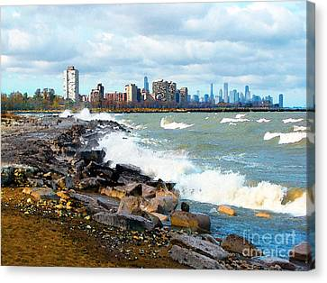 Chicago South Lakefront Canvas Print by Cedric Hampton