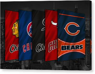 Mlb Canvas Print - Chicago Sports Teams by Joe Hamilton