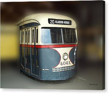 Chicago Street Car 20 Canvas Print by Thomas Woolworth