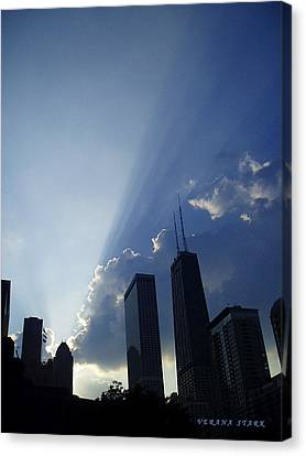 Chicago Sunset Canvas Print by Verana Stark