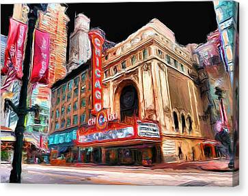 Chicago Theater - 23 Canvas Print by Ely Arsha