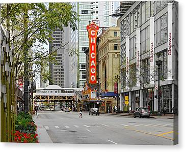 Chicago Theatre - French Baroque Out Of A Movie Canvas Print