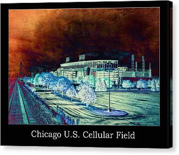 Chicago Us Cellular Field Textured Canvas Print