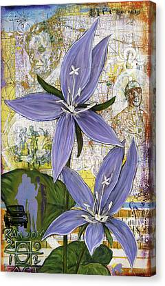 Chicago Violets Canvas Print by Andrea LaHue aka Random Act