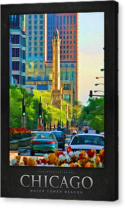 Chicago Water Tower Beacon Poster Canvas Print