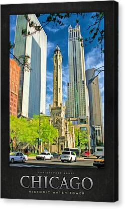 Chicago Water Tower Shopping Poster Canvas Print