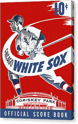 Chicago White Sox 1950's Score Book Canvas Print by Big 88 Artworks