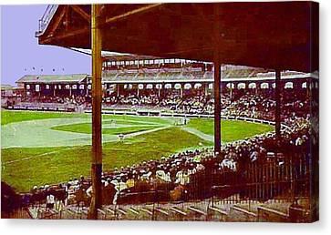 Chicago White Sox Ballpark Stadium Around 1920 Canvas Print by Dwight Goss