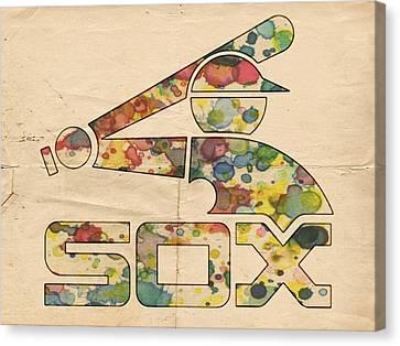 Chicago White Sox Vintage Poster Canvas Print by Florian Rodarte