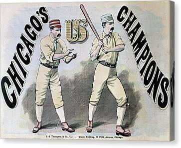 Chicago White Stockings Canvas Print by Granger