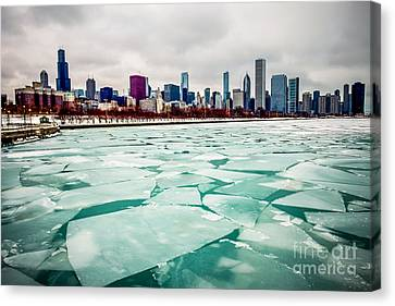 Chicago Winter Skyline Canvas Print by Paul Velgos