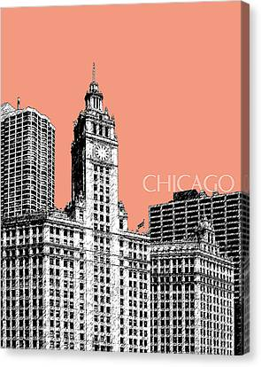 Chicago Wrigley Building - Salmon Canvas Print by DB Artist