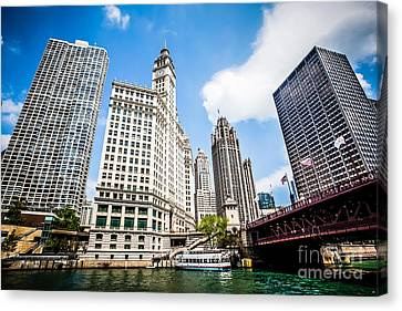 Chicago Wrigley Tribune Equitable Buildings Picture Canvas Print by Paul Velgos