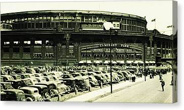 Chicago's Comiskey Park Canvas Print by Bill Cannon