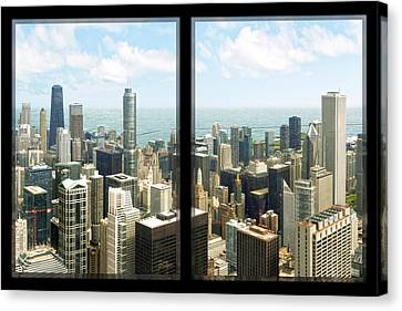 Canvas Print featuring the photograph Chicago's Tallest by Doug Kreuger