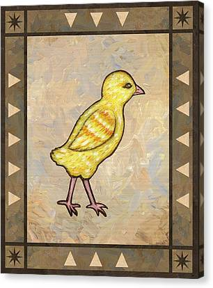 Farm Canvas Print - Chick One by Linda Mears