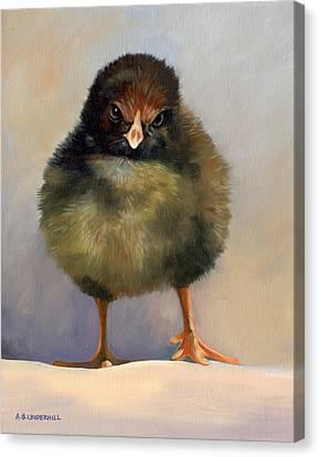 Chick With Attitude Canvas Print by Alecia Underhill