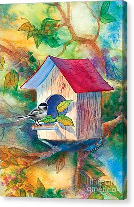 Chickadee Bungalow Canvas Print by Teresa Ascone