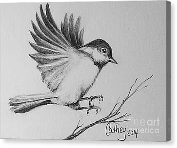Chickadee Canvas Print by Catherine Howley