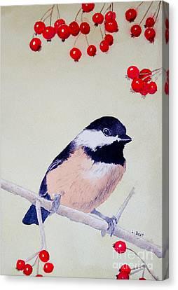 Chickadee Canvas Print by Laurel Best