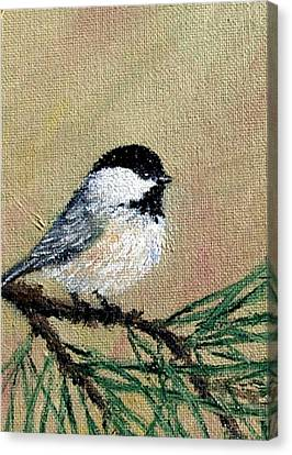 Chickadee Set 17 Bird 1 Detail Print Canvas Print